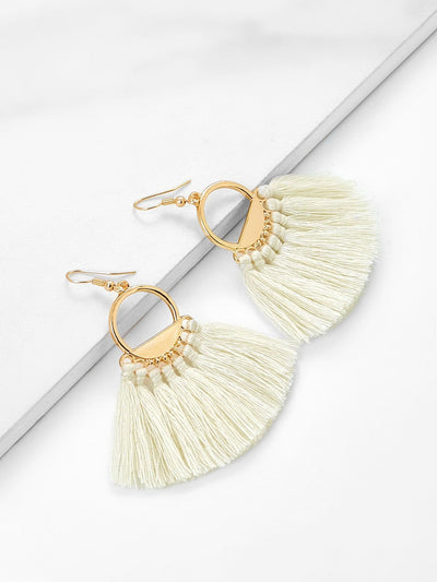 Tassel Drop Earrings - Earrings