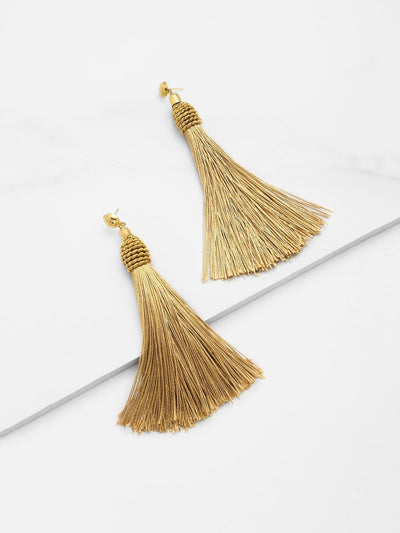 Tassel Statement Drop Earrings - Earrings