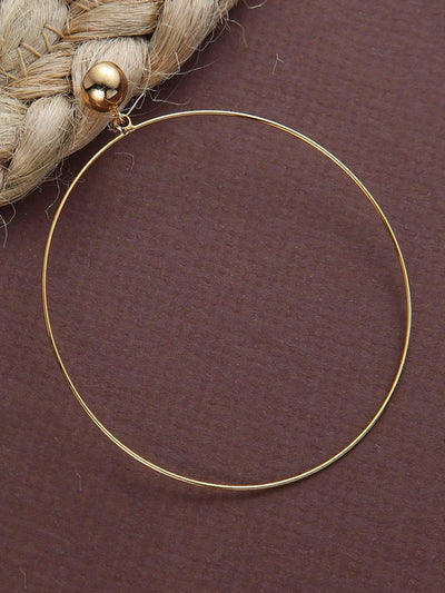 Thin Dainty Large Gold Hoop Earrings - Earrings
