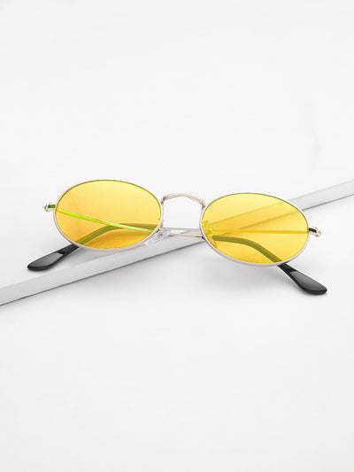 Tinted Oval Sunglasses - Sunglasses