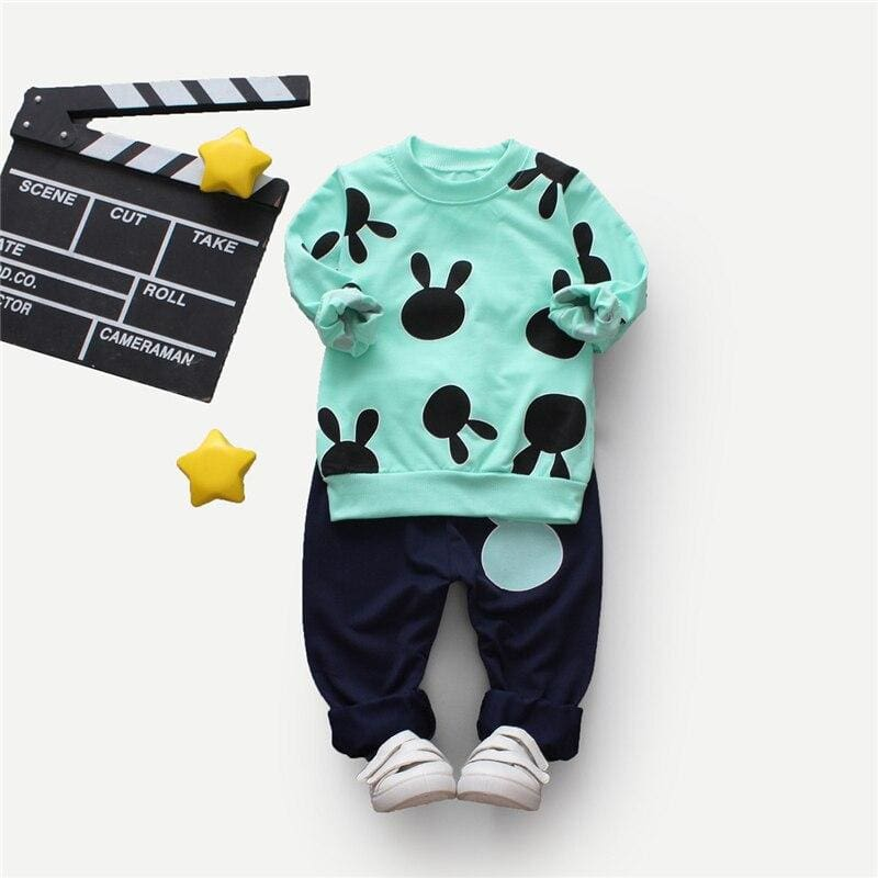Toddler Boys Cartoon Print Pullover With Pants - Multi / 4T - Boy Suit Set