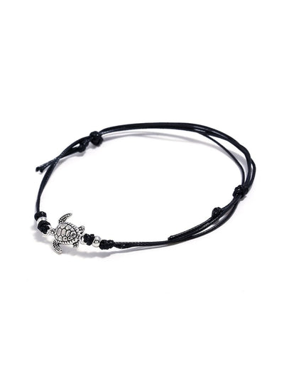 Tortoise Decorated Layered Anklet Body Jewelry - Body Jewelry