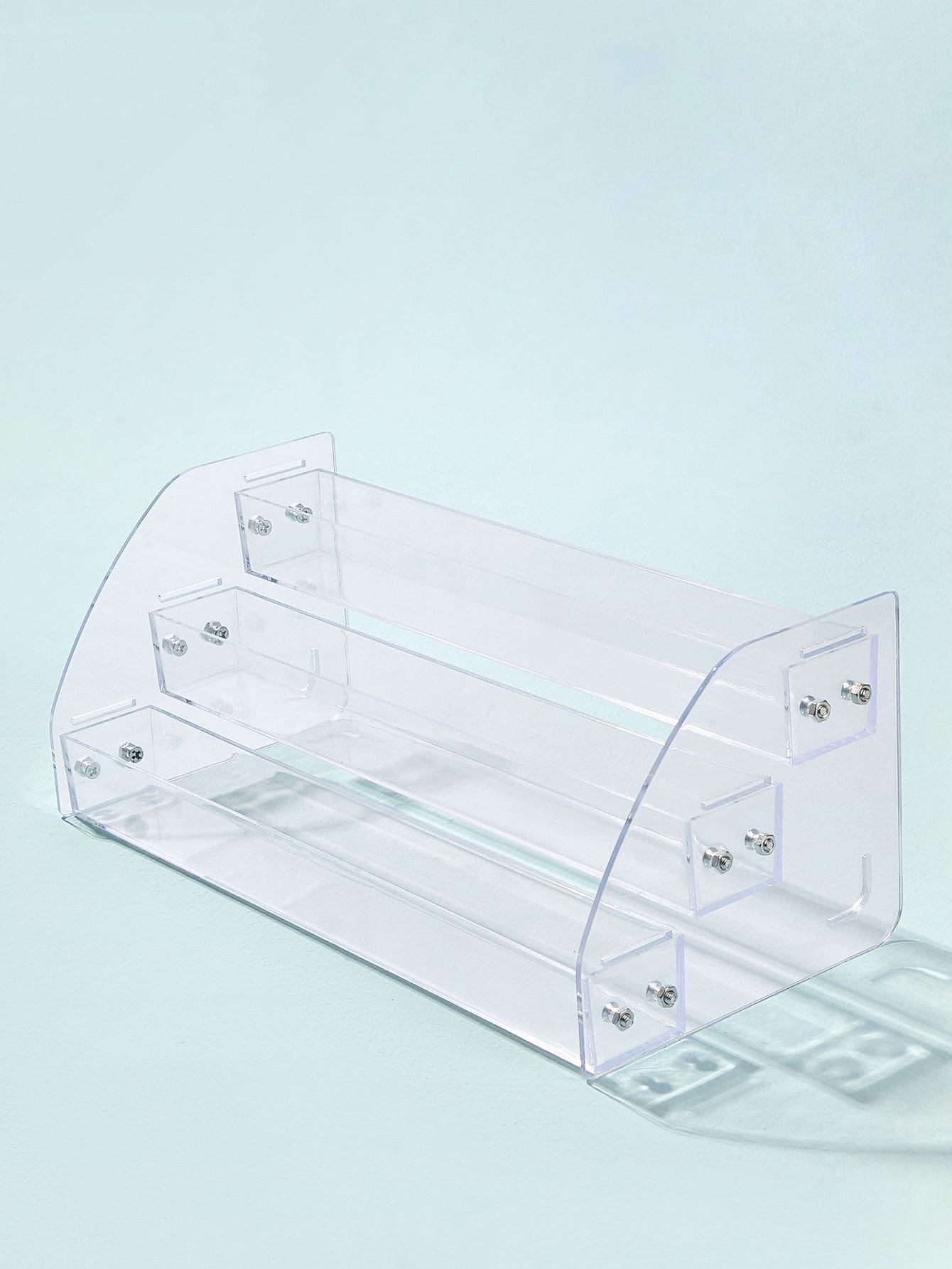 Transparent 3-layer Storage Box - Beauty Tools