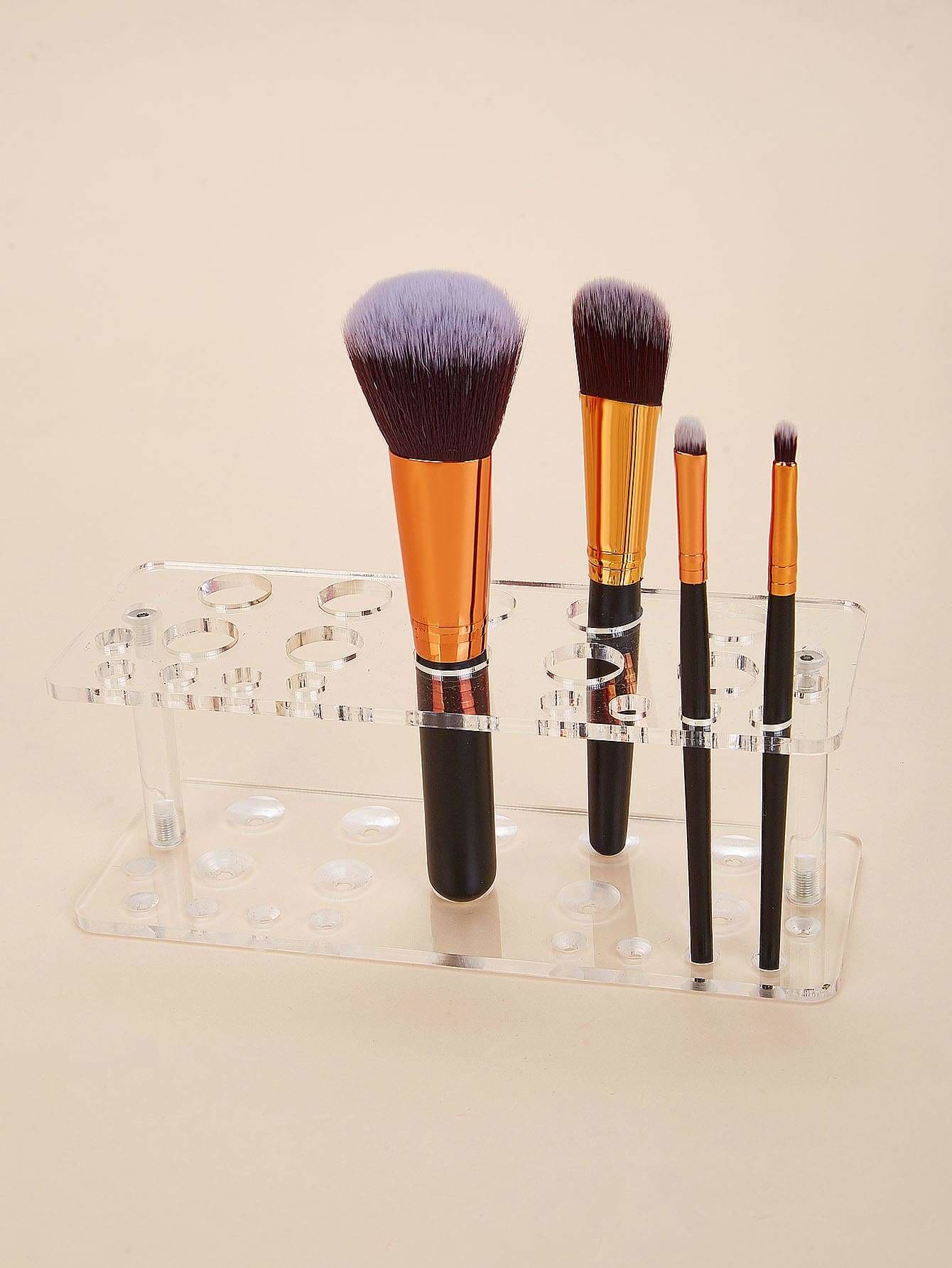 Transparent Makeup Brush Holder