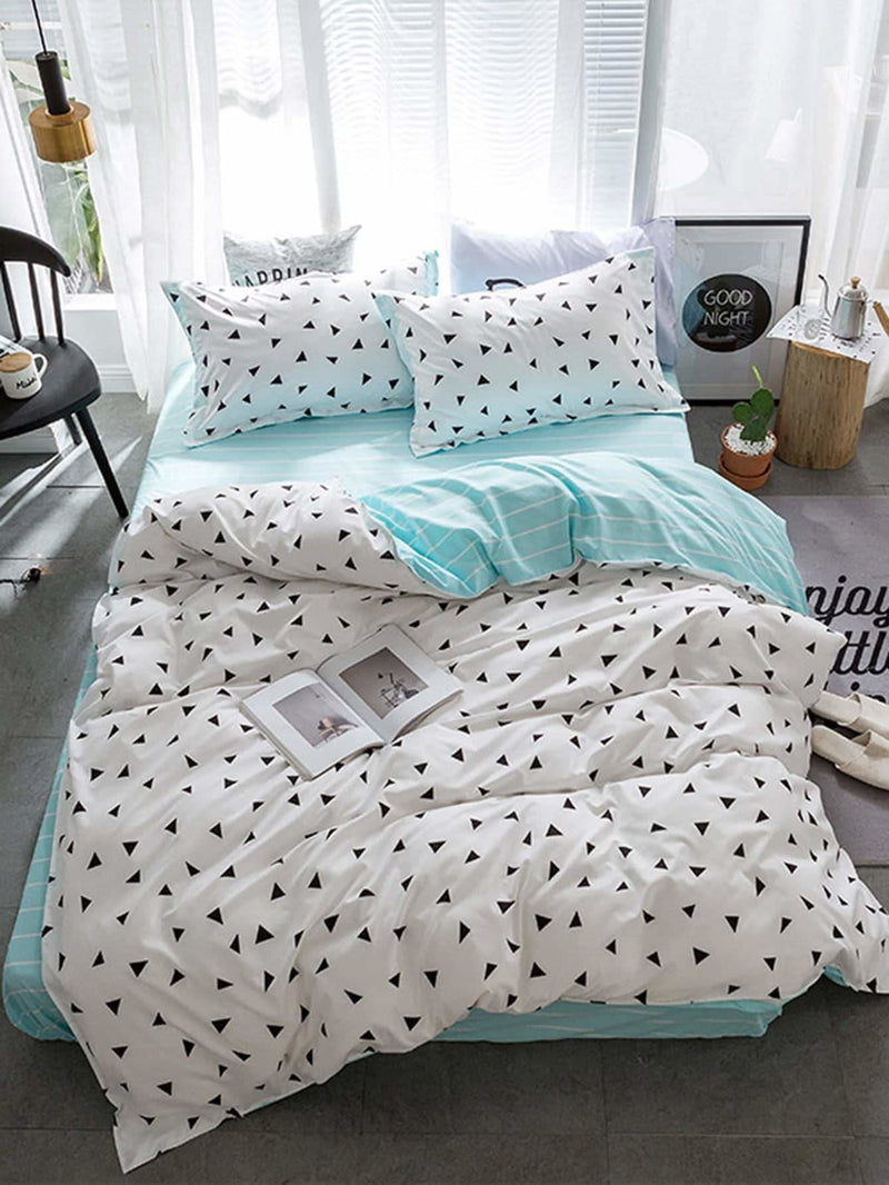 Triangle Print Bedding Set