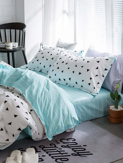 Triangle Print Bedding Set - Bedding Sets