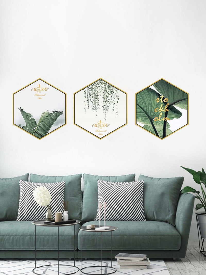 Tropical Print Cloth Wall Art 3Pcs - Wall Art