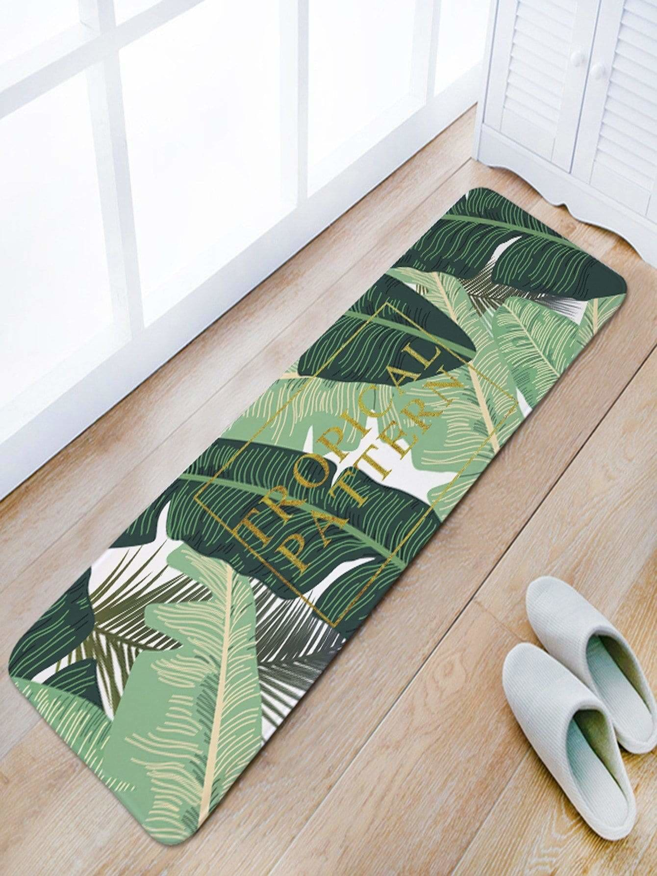 Tropical Print Floor Mat - One-Size / Multicolor - Rugs & Mats