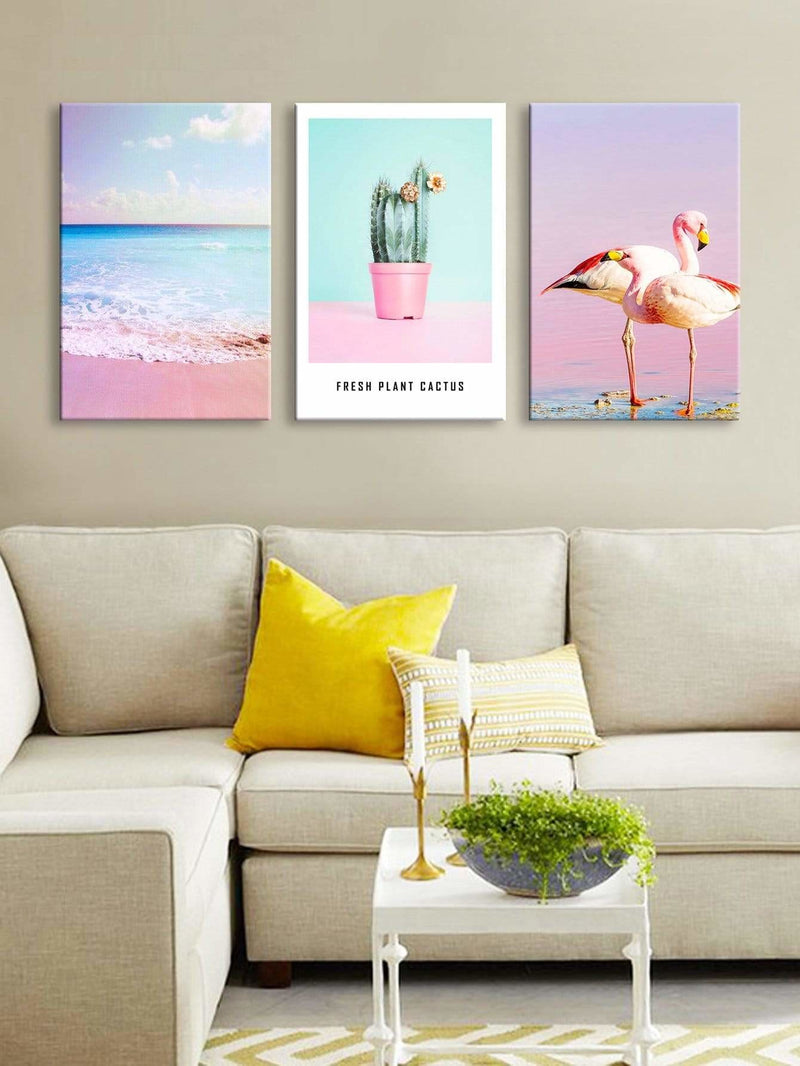 Tropical Print Wall Art 3Pcs - Wall Art