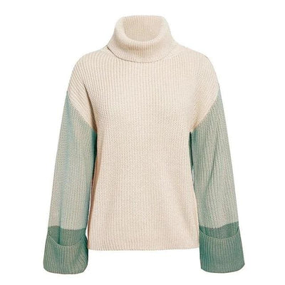 Turtleneck Knitted Long Sleeve Loose Pullover - Army Green / S - Hoodies & Sweatshirts