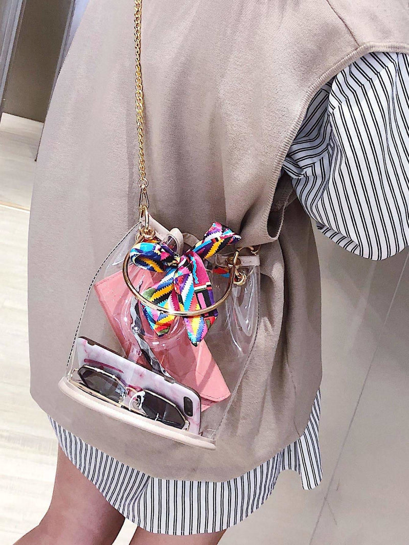 Twilly Scarf Chain Bag With Inner Pouch