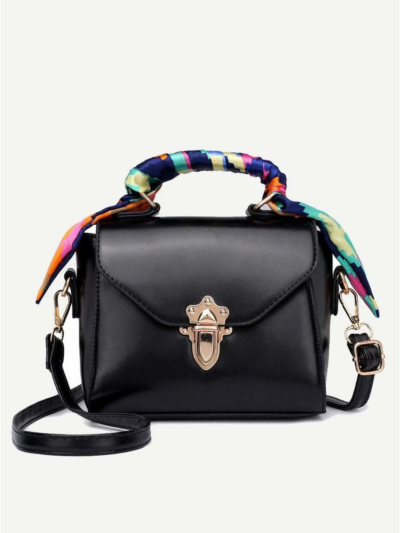 Twilly Scarf Push Lock Shoulder Bag - Womens Bag