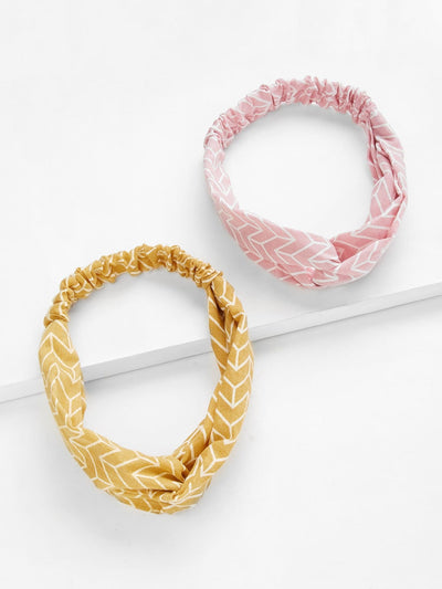Twist Headband 2Pcs - Hair Accessories