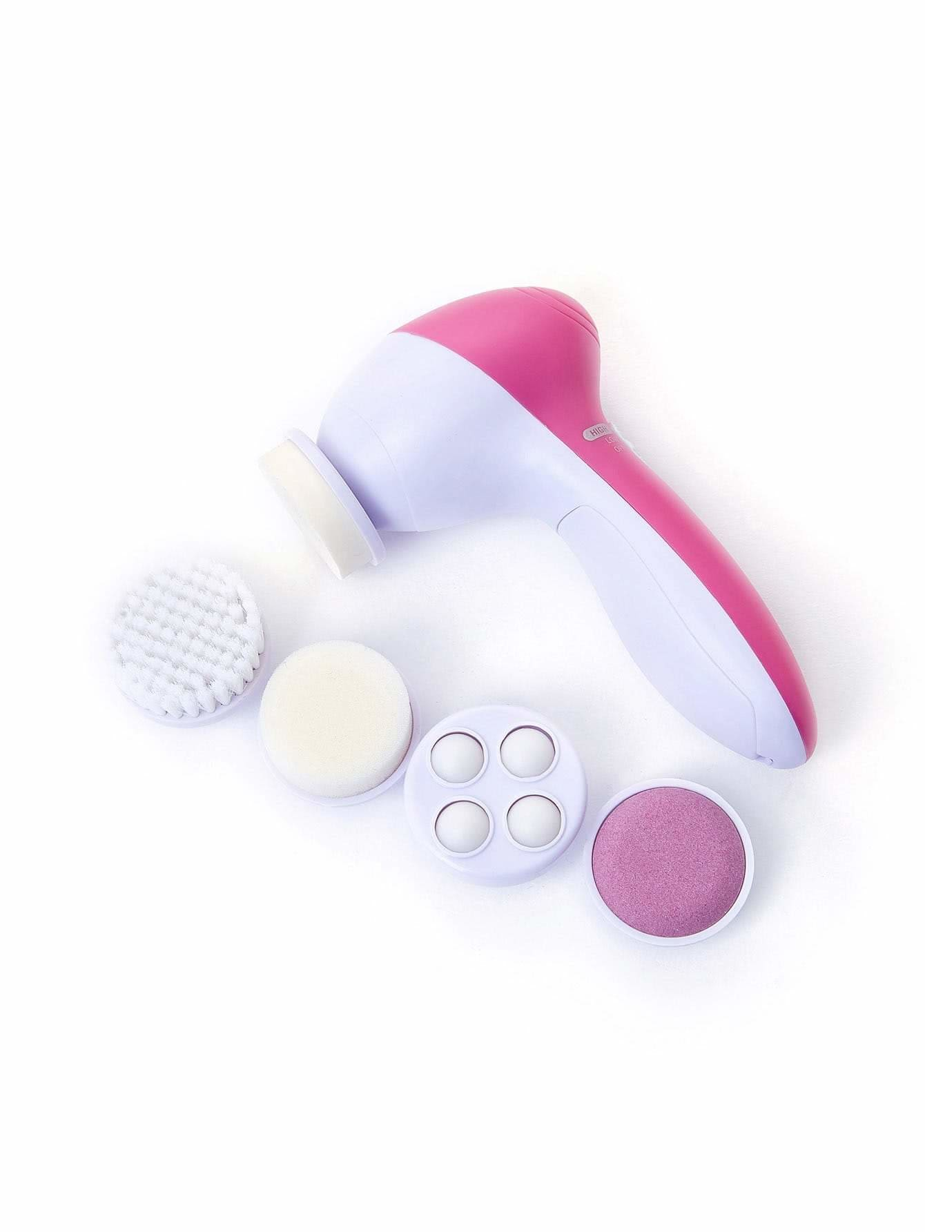 Two Tone Cleansing Instrument With Brush - Beauty Tools