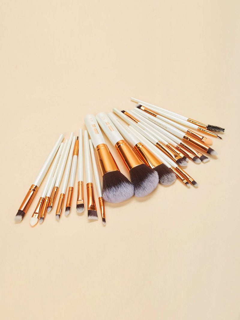 Two Tone Handle Makeup Brush 22Pcs - Makeup Brushes