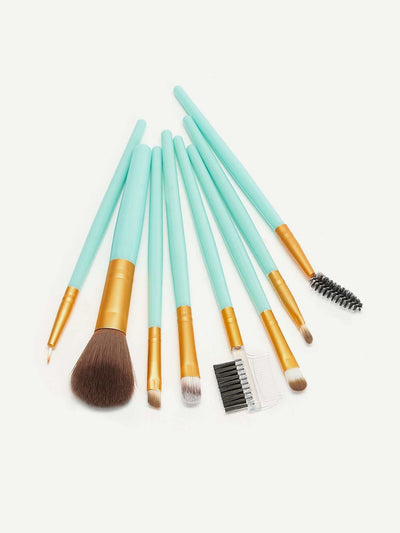 Two Tone Handle Makeup Brush 8Pack - Makeup Brushes