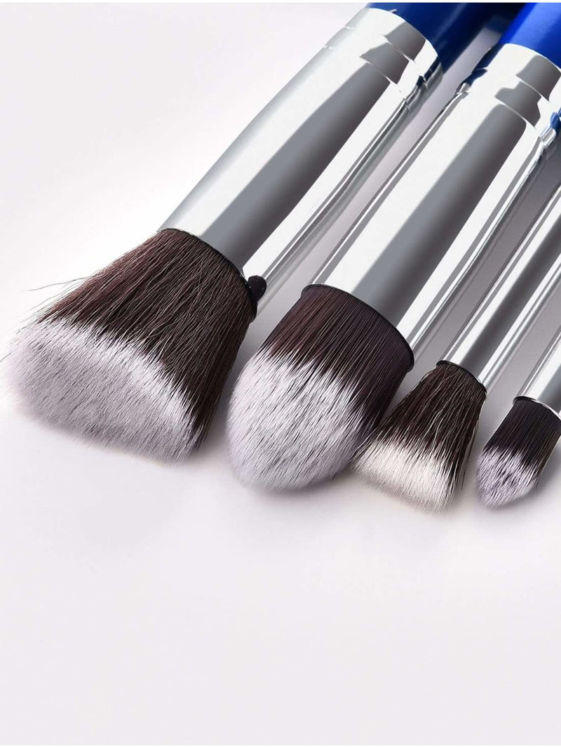 Two Tone Handle Makeup Brush Set 10Pcs - Makeup Brushes