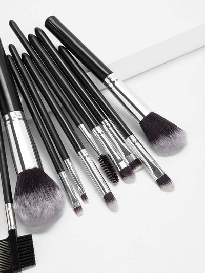 Two Tone Handle Makeup Brush With Case 13Pcs - Makeup Brushes