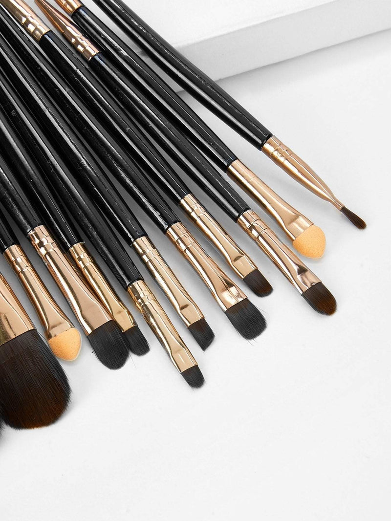 Two Tone Handle Makeup Brushes 18pcs