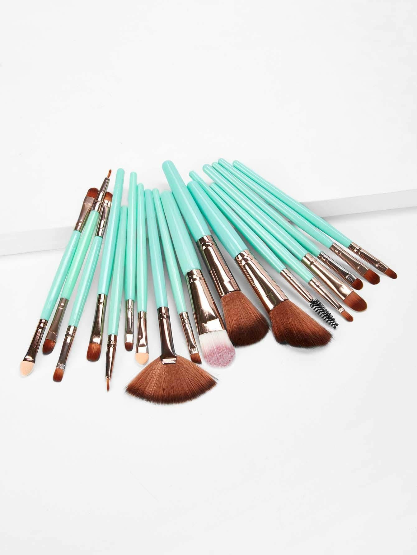 Two Tone Handle Makeup Brushes 18Pcs - Makeup Brushes