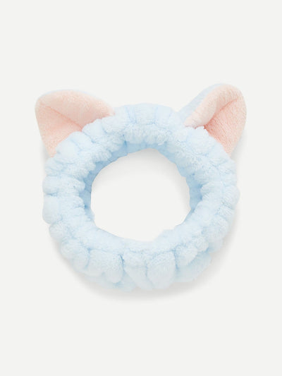 Two Tone Headband With Cat Ear - Hair Accessories