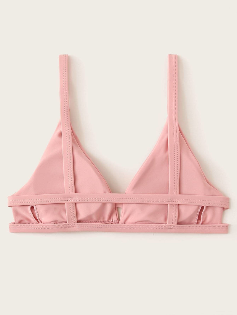 V Neck Swimming Bra - Pink pastel / S - Bikini