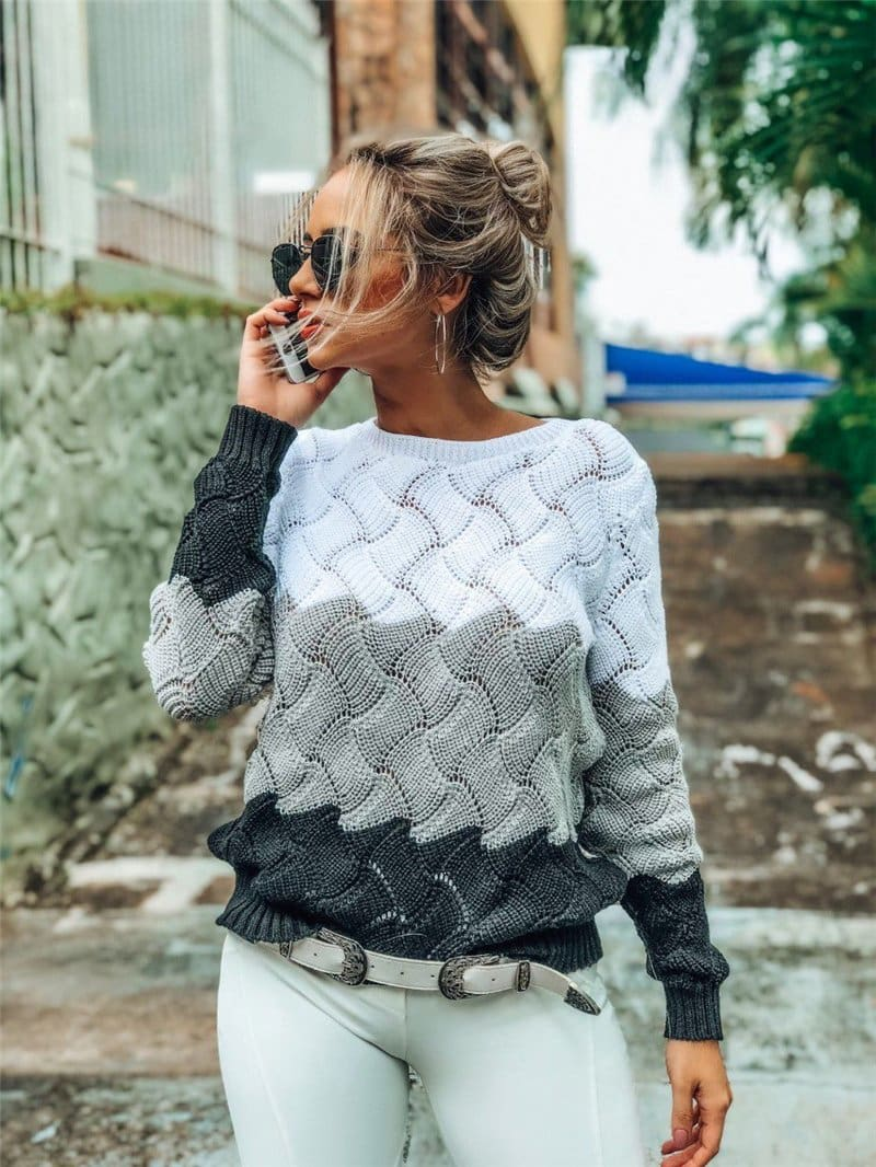 Vintage Crewneck Knitted Pullover