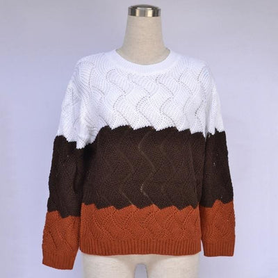 Vintage Crewneck Knitted Pullover - Picture color 2 / S - Hoodies & Sweatshirts