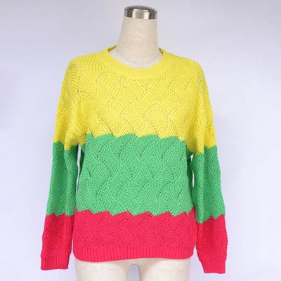 Vintage Crewneck Knitted Pullover - Picture color 3 / S - Hoodies & Sweatshirts