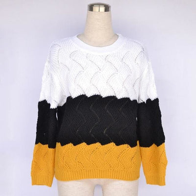 Vintage Crewneck Knitted Pullover - Picture color / S - Hoodies & Sweatshirts