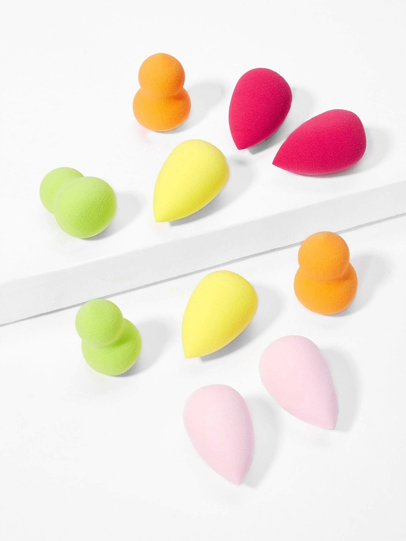 Water-Drop & Gourd Shaped Makeup Sponge 10Pcs - Beauty Tools