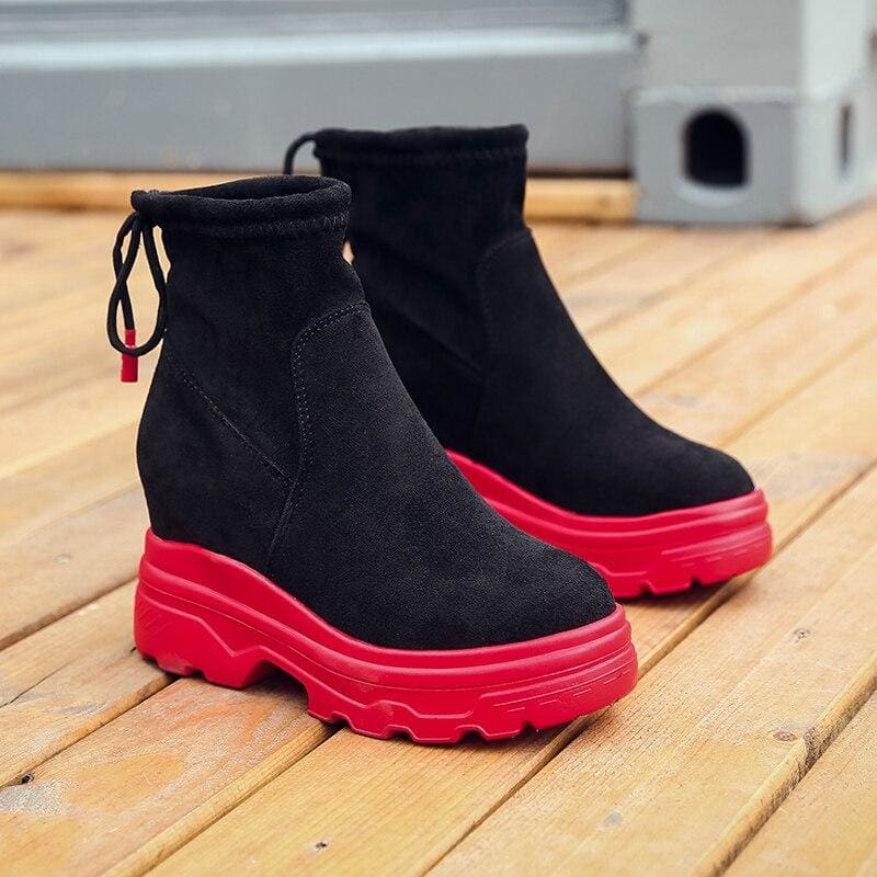 Waterproof Ankle Platform Boots