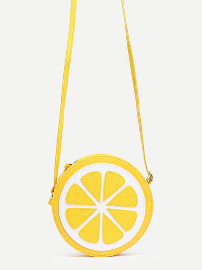 Yellow Lemon Shaped Crossbody Bag - Womens Bag
