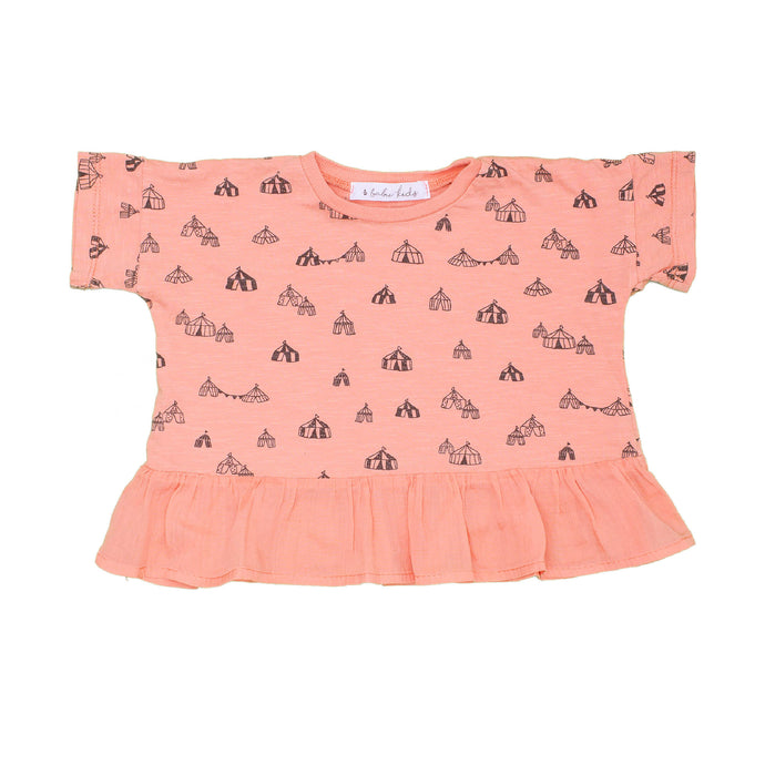 Circus Tents Top with Frill, dusty orange