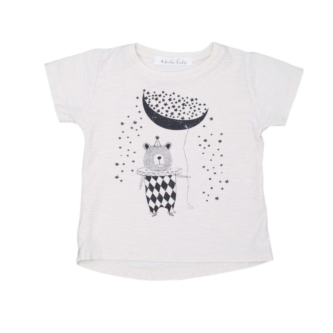 Falling Stars Graphic Tee, ivory