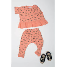 Circus Tents Slouch Pants, dusty orange