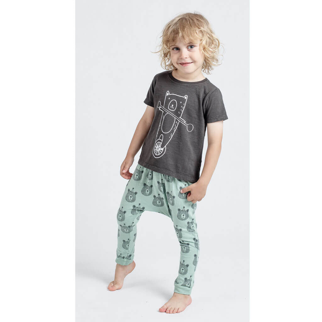 Bears Print Slouch Pants, mint