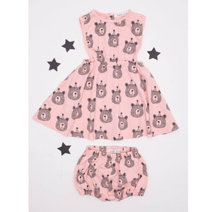 Bears Print Bloomer, soft pink