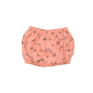 Circus Tents Print Bloomer, dusty orange