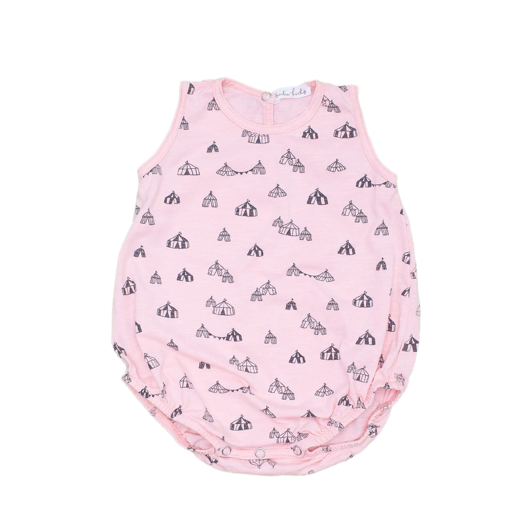 Circus Tents Baby Romper, soft pink