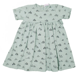 Circus Tents Jersey Dress, mint