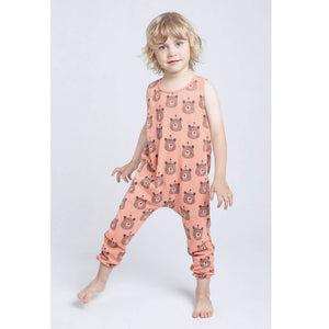 Bears Print Jumpsuit, dusty orange