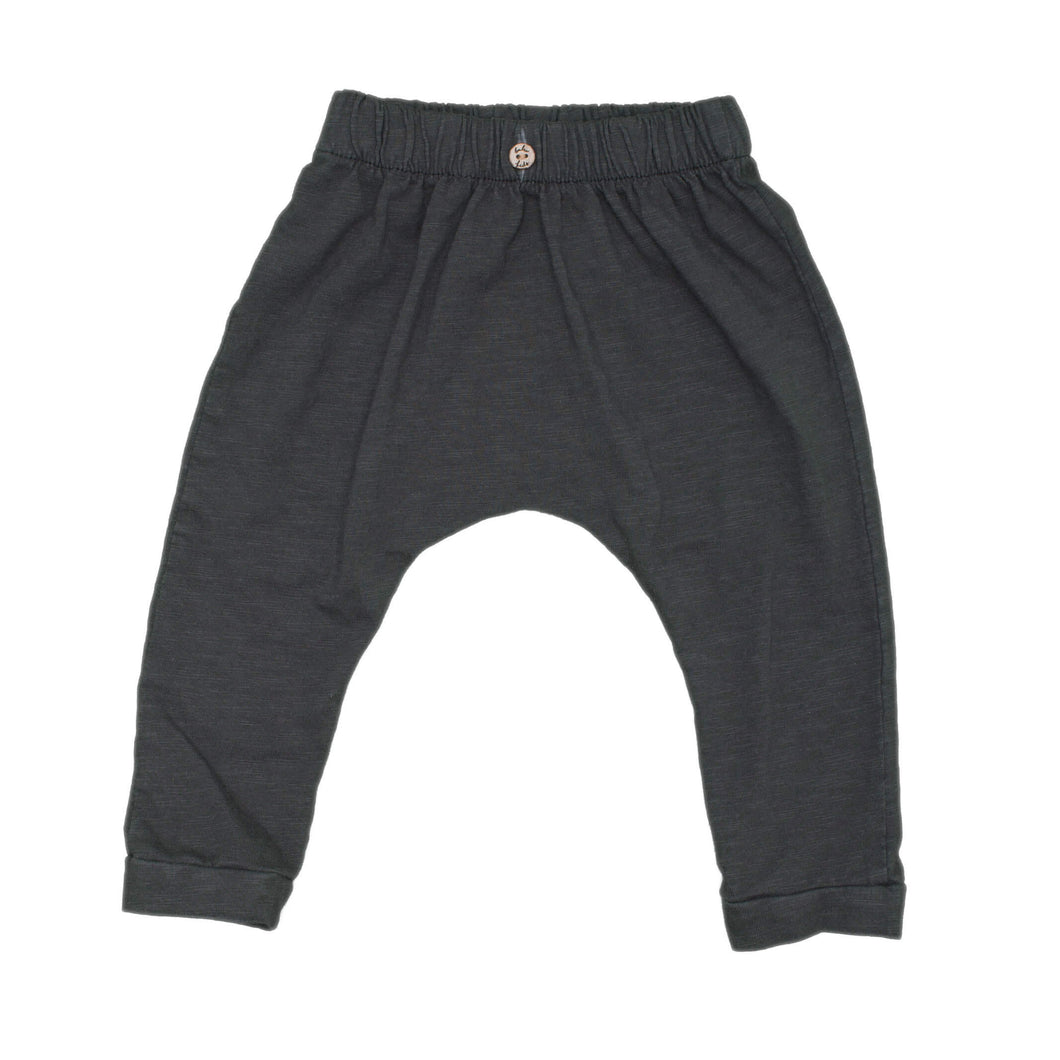 Solid Charcoal Slouch Pants, charcoal