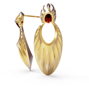 Avals Yellow Gold Large Earrings