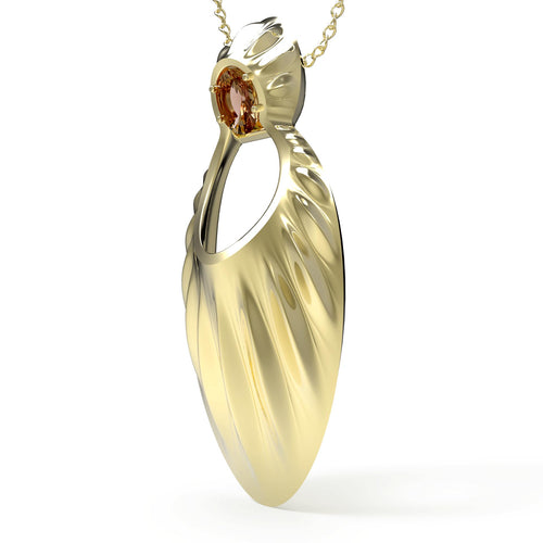 Avals Yellow Gold Large Pendant