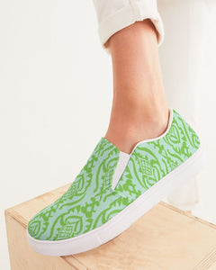 Sea Glass Ikat Women's Slip-On Canvas Shoe