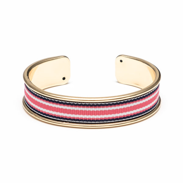 Shawmut Grosgrain Ribbon & Gold Cuff by Allison Cole Jewelry