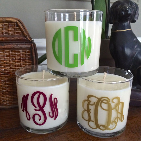 Monogrammed 10oz. Scented Soy Candle