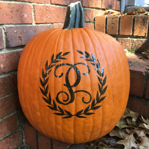 Personalized Laurel Pumpkin Decal