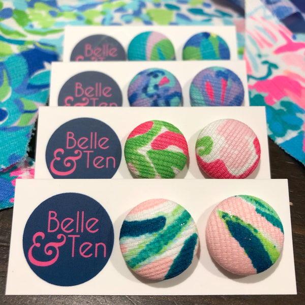 Lilly Button Earrings